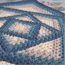 Manta Caleidoscopio a Crochet