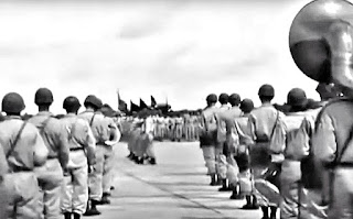 A pass in review at the Lipa Airstrip in 1945.