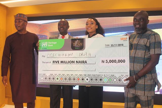 Ogechukwu Alexis Obah emerges the Season 5 Winner of The Next Titan Nigeria; walks off with N5 Million & a brand new Ford Focus