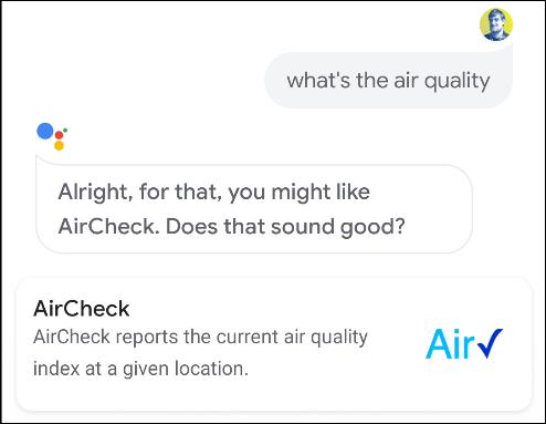 إجراءات فحص مساعد جوجل الجوية