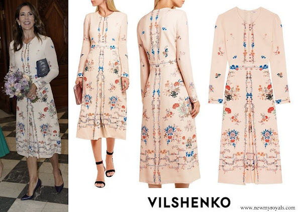 Crown Princess Mary wore Vilshenko Jerry floral print silk dress