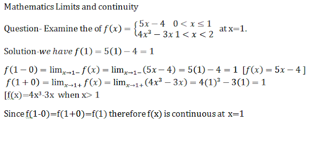 Limits and continuity