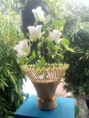 Vas Bunga Bahan Tusuk Sate [Kode : B01]
