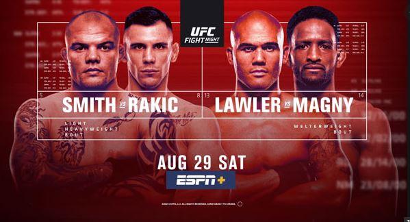 Watch UFC Fight Night 175 Smith Vs Rakic 8/29/2020 Full Fight Live Stream and Download