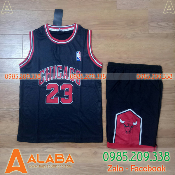Áo bóng rổ Chicago Bulls màu đen