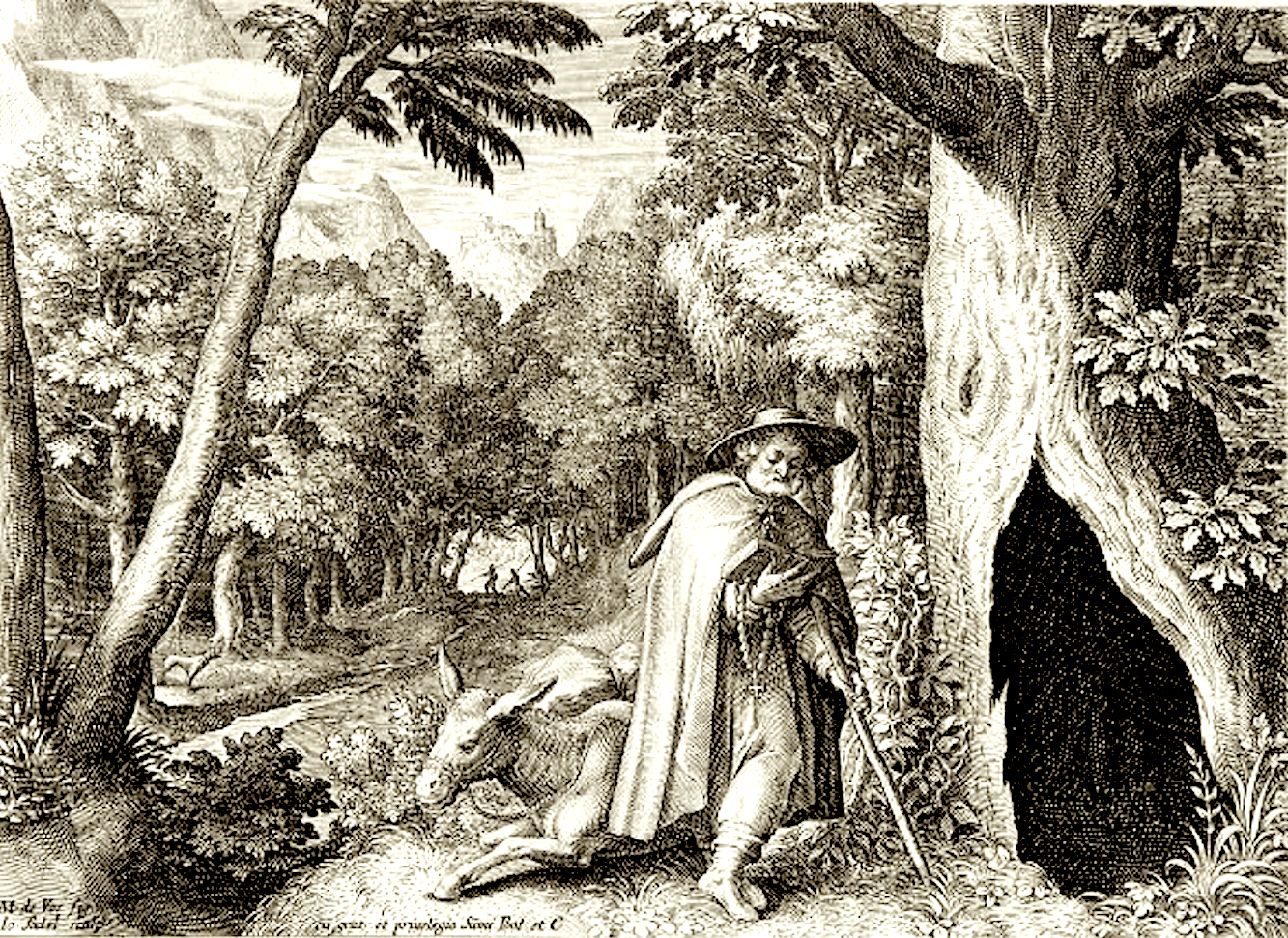 Падение осла на месте молитвенного подвига святого Герольда..