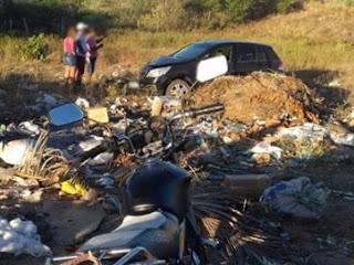 Batida entre carro e moto deixa jovem morta e rapaz ferido, no Sertão da PB