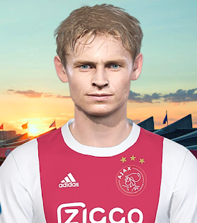 PES 2018 Faces Frenkie de Jong by Prince Hamiz