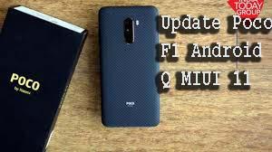 Update Poco F1 Android Q MIUI 11
