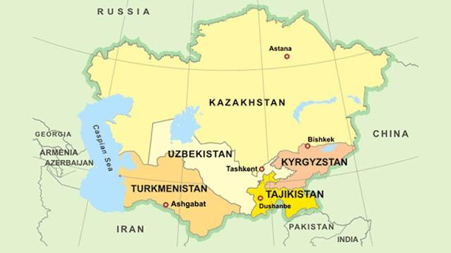 Peta Asia Utara Beserta Negaranya