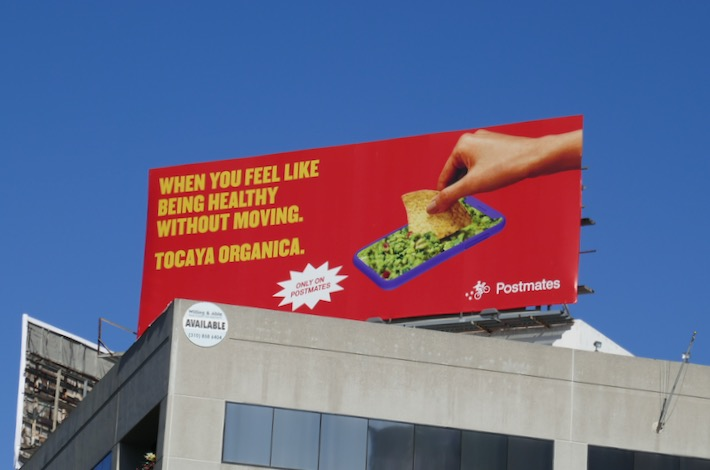 Tocaya Organica Postmates billboard