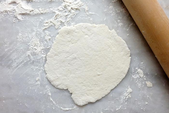 "rolling a dough piece to 6"" in diameter"
