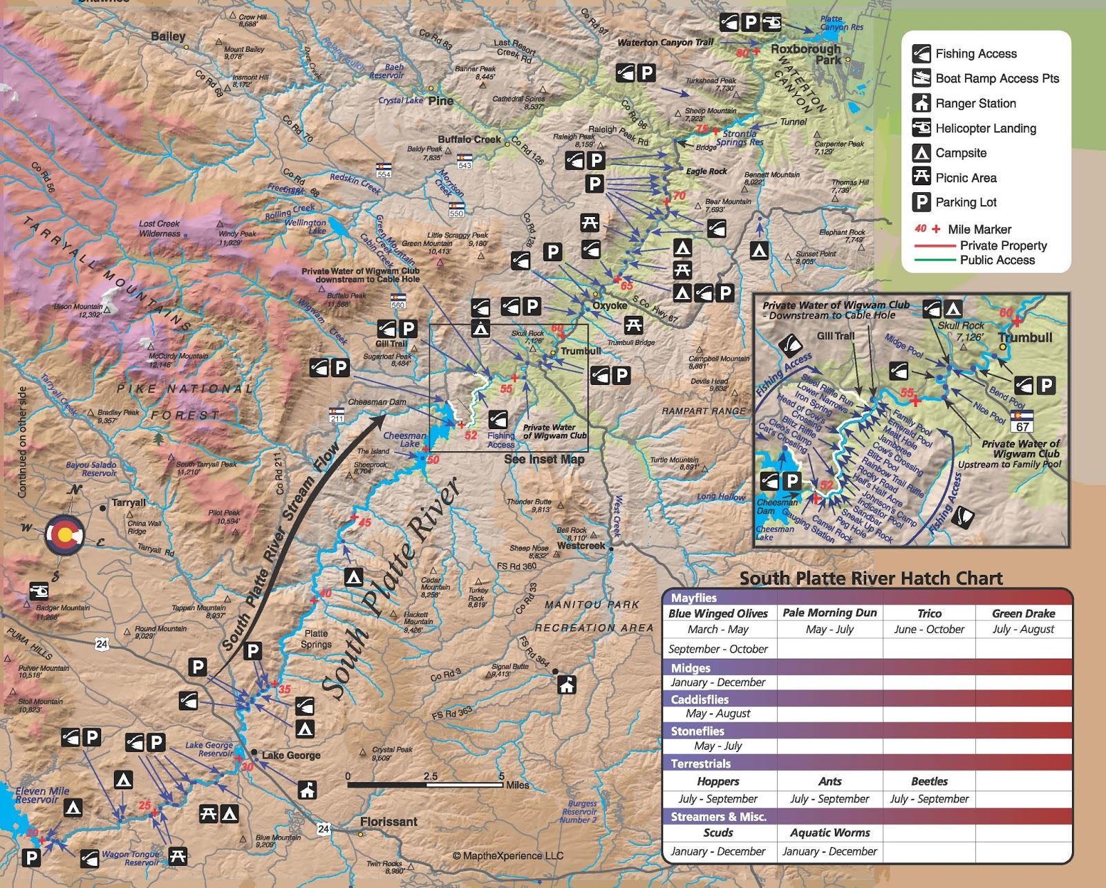SOUTH PLATTE RIVER PUBLIC ACCESS MAP | FISHING MAP | COLORADO