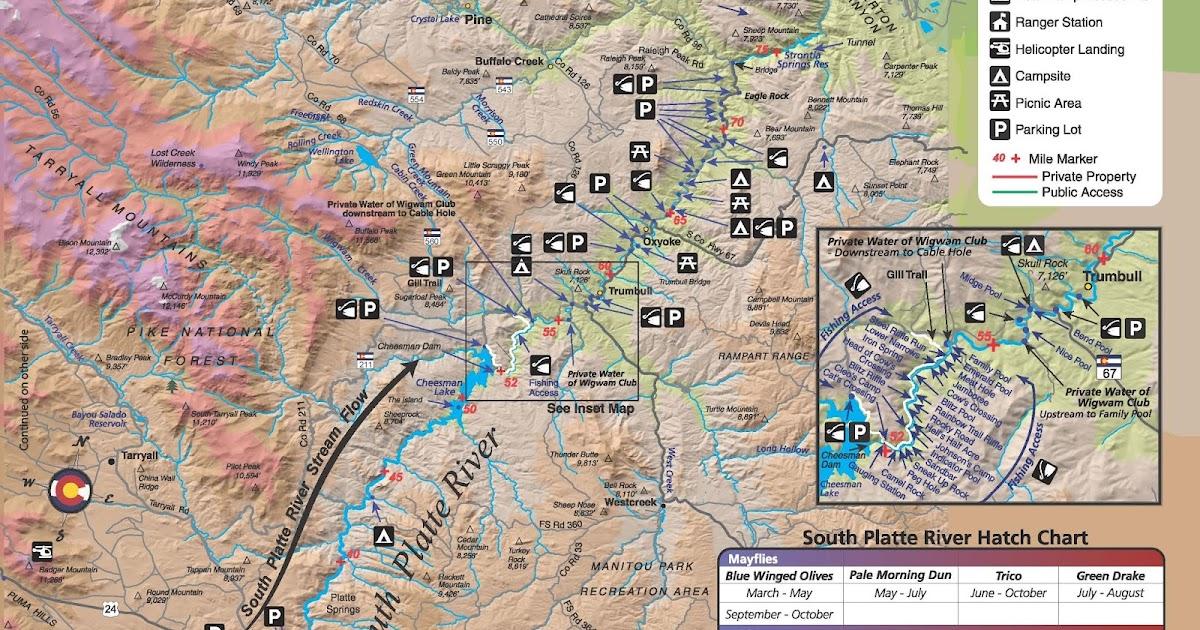 South Platte River Public Access Map Fishing Colorado: Dream Stream Colorado Map At Slyspyder.com