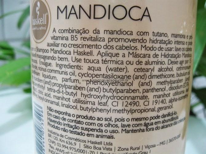 Máscara de Hidratação de Mandioca Haskell