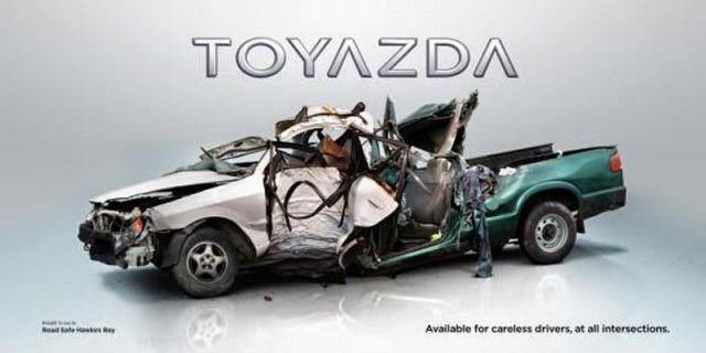 Publicidad impresa y accidentes automovilísticos.