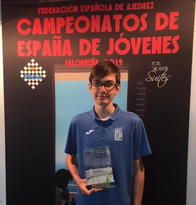 SALOBREÑA: Sub-14. Andrés Luque campeón de España rápido