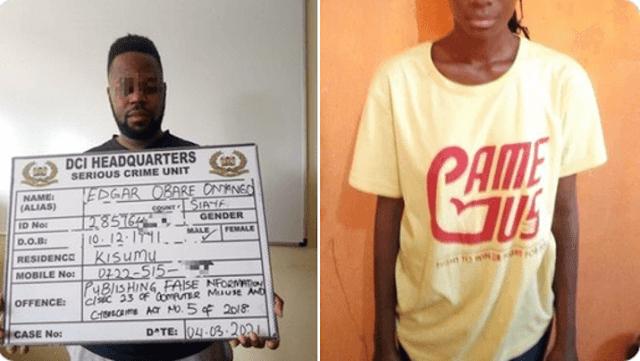 controversial Kisumu blogger Edgar Obare arrested photo