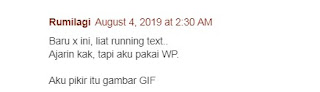 running text