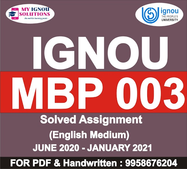 MBP 003 Solved Assignment 2020-21