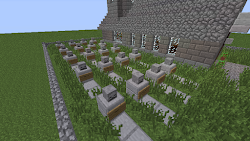 minecraft cool graveyard build builds spooky church scary things looking tombstones edition console halloween special