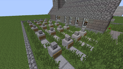 minecraft cool build graveyard
