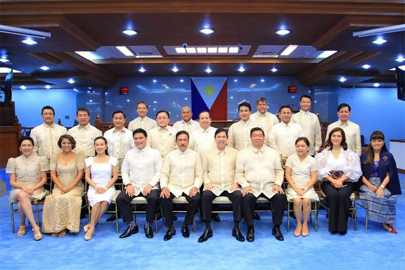 22 senators during the opening of the 18th Congress