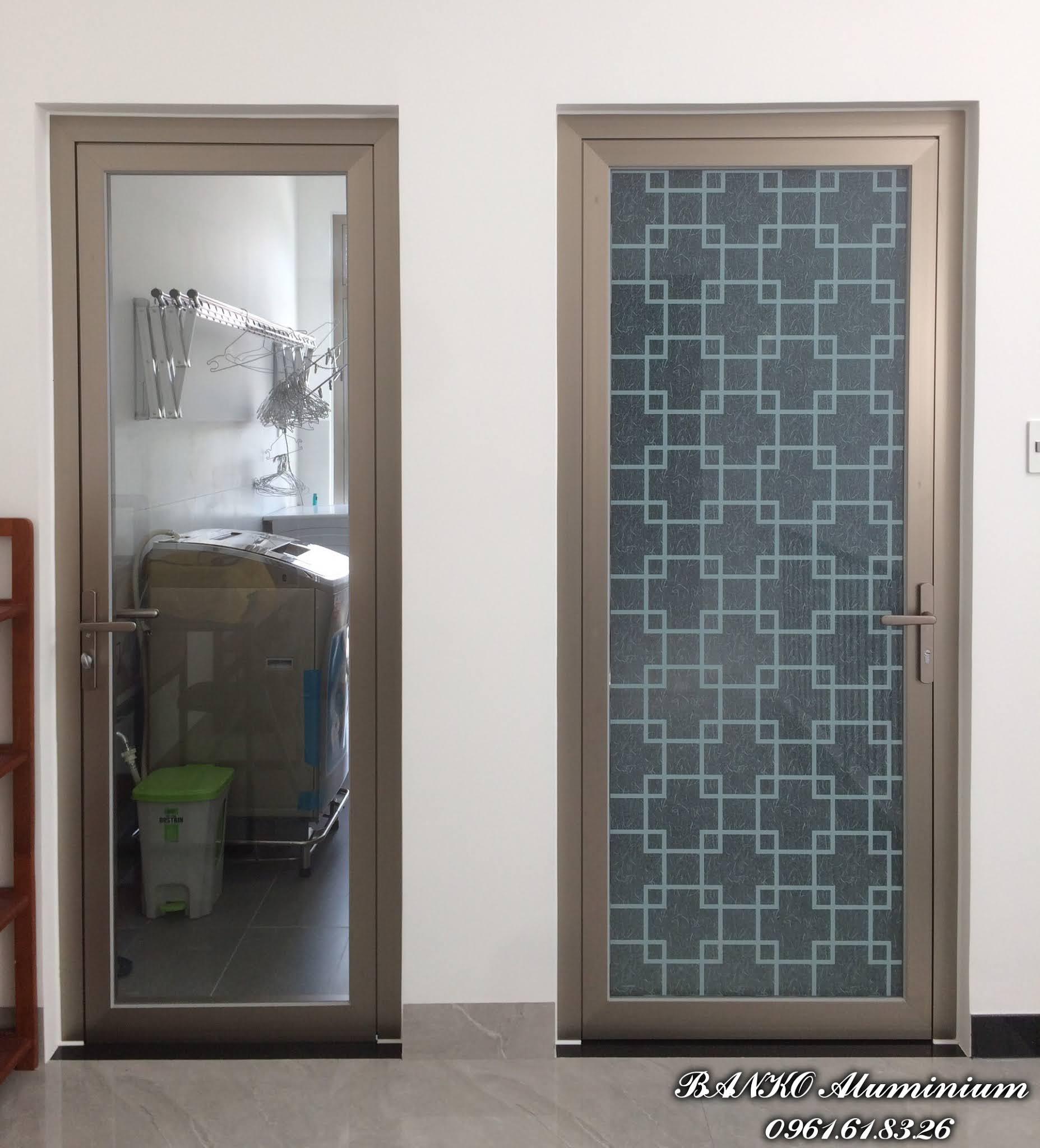 Cửa phòng giặt + Cửa phòng ngủ nhôm Hondalex