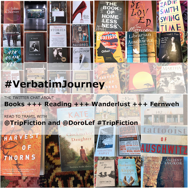 Verbatim Journey. Twitter Chat. Dorothee Lefering. Trip Fiction. Read to Travel