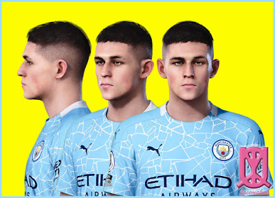 PES 2021 Faces Phil Foden by Uqiya