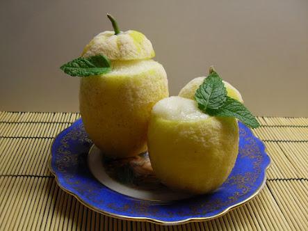 Limones helados sin lactosa