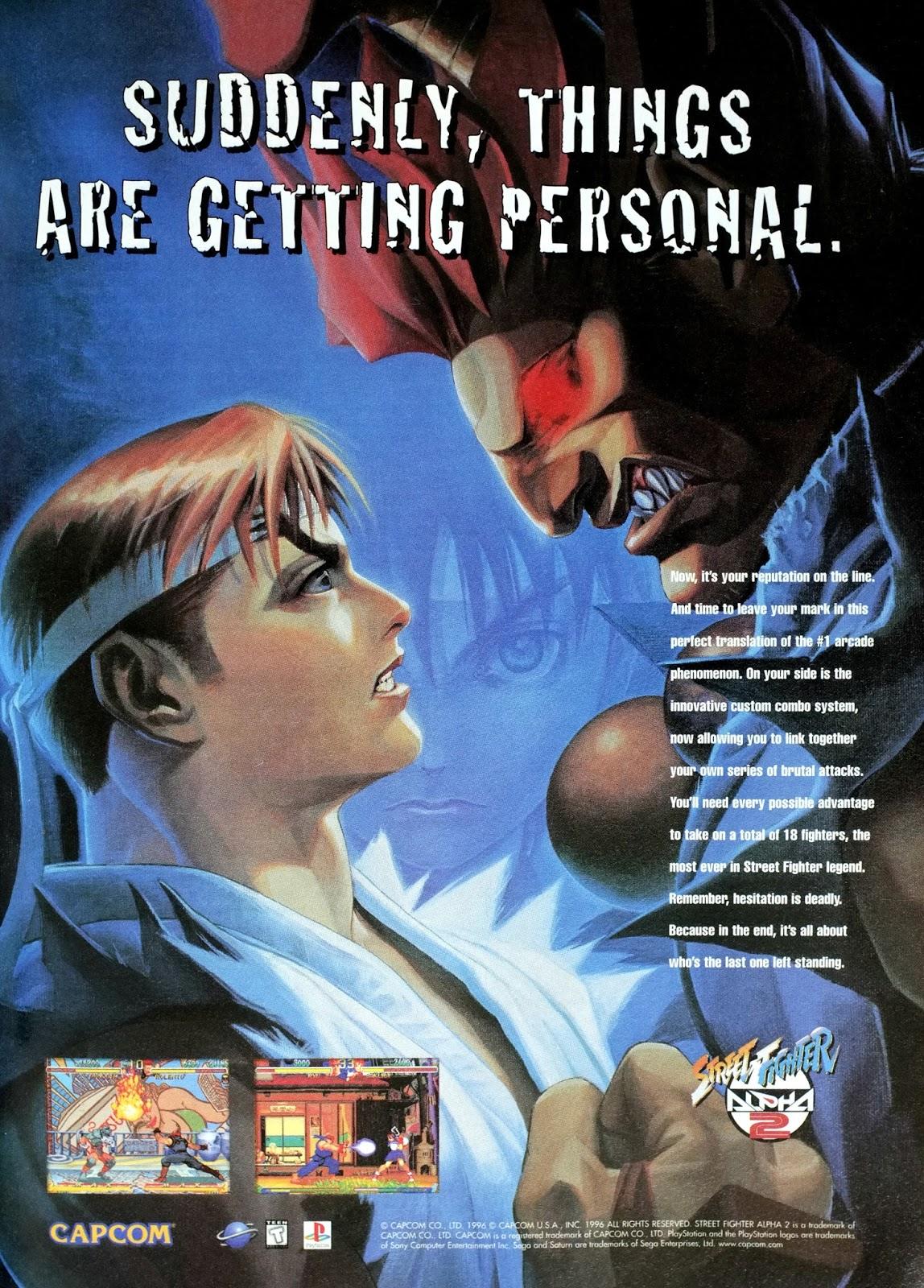 Retro Gaming Art Street Fighter Alpha 2 For Saturn And