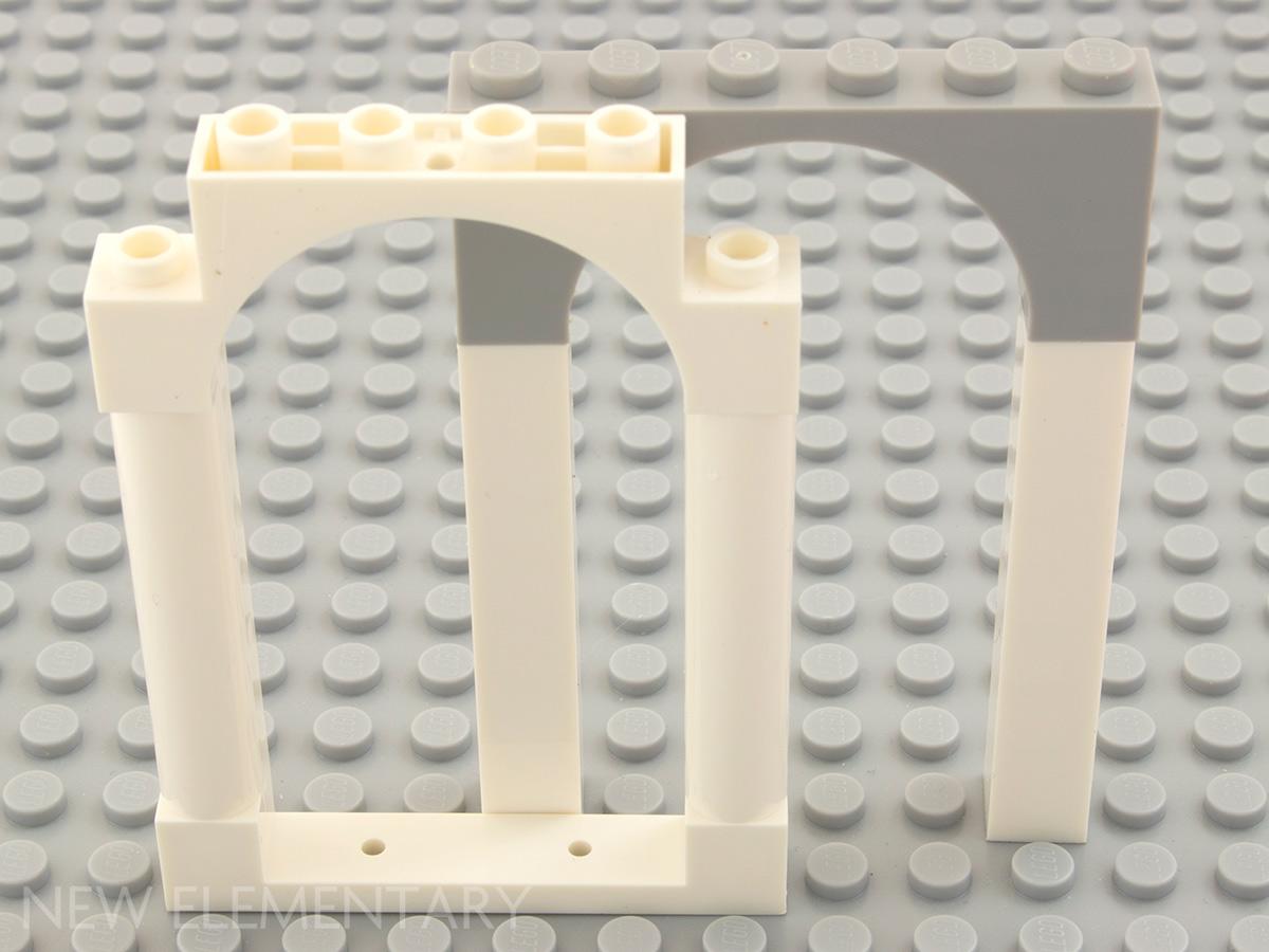 4x4 Dark Gray 1//4 Rounded Wall Bricks ~ Lego ~ NEW ~ Star Wars 5