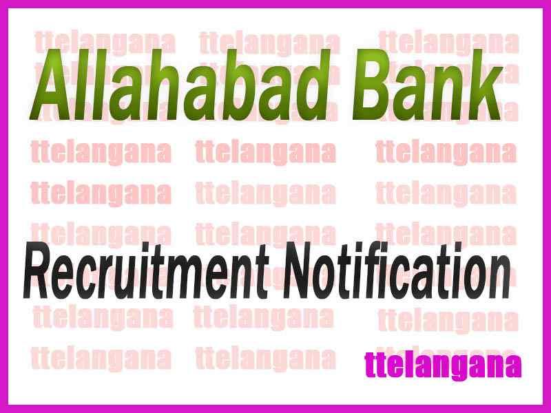 Allahabad Bank Recruitment Notification