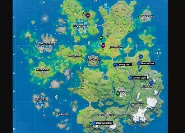 Letak Semua lokasi XP Coin di Fortnite Chapter 2 Season 3-4