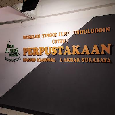 Perpustakaan yang terletak di kawasan masjid agung Surabaya