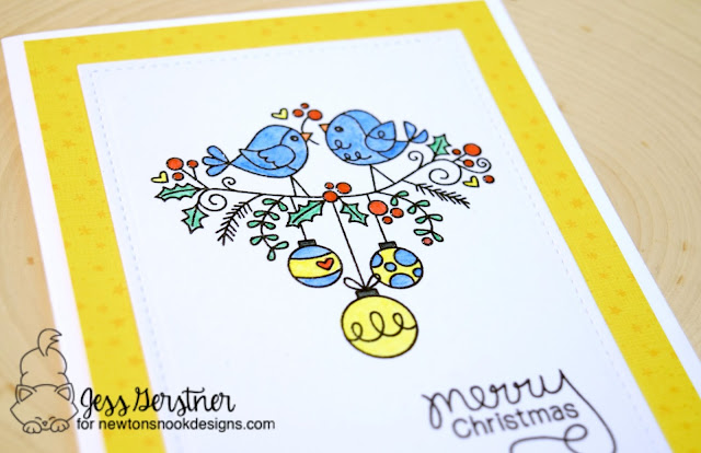 Bird Christmas Card by Jess Gerstner for Newton's Nook Designs