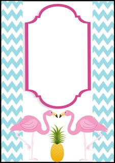modelo de convite flamingos
