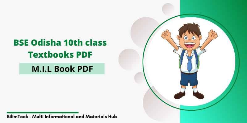 BSE Odisha 10th Class MIL Odia Book PDF Download - 2020