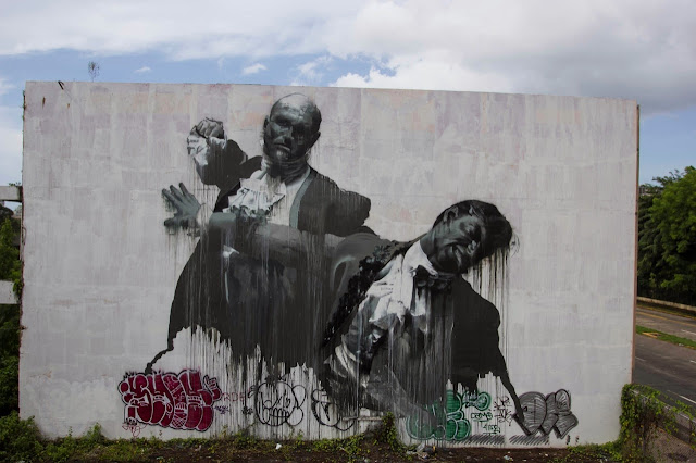 """San Juan Fight Club II"" Second New Mural By Irish Artist Conor Harrington For Los Muros Hablan In Puerto Rico. 2"