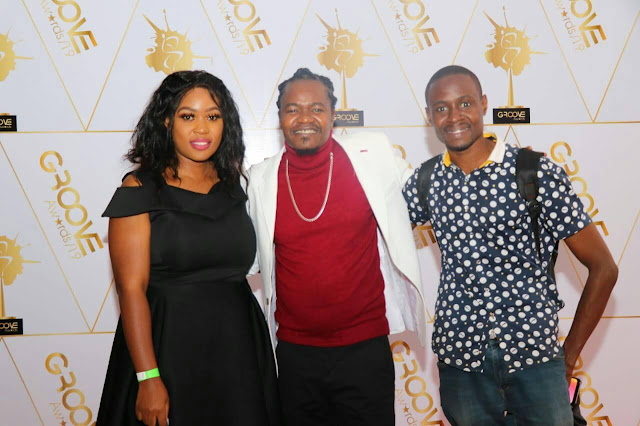 With the legend and king of Genge Jua Cali (Centre) and his wife at a past event in Nairobi