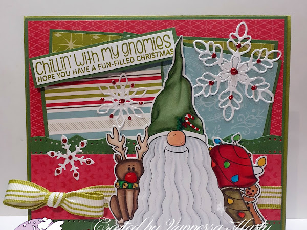 Traditionally Coloured Christmas Card Featuring Christmas Mushroom Tomte Gnome