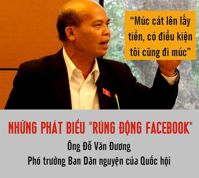 """ĐBQH Đỗ Văn Đương với những phát biểu """"rúng động Facebook"""", gây sốc cho dân"""