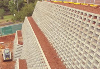 جدران استنادية Crib Retaining Wall