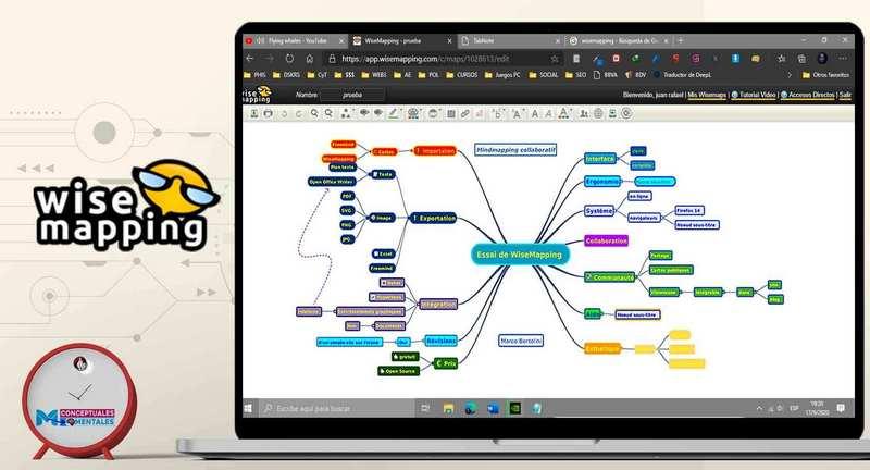 Wisemapping para hacer mapas mentales online gratis