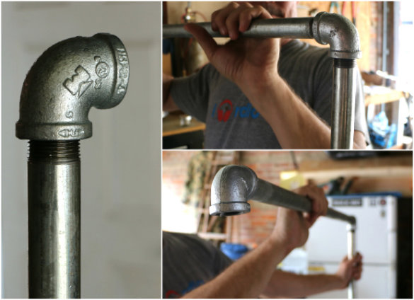 Over On Ehow Diy Industrial Pipe Garment Rack 17 Apart
