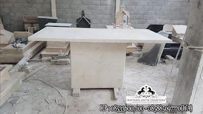 Meja Makan Marmer Putih, Jual Meja Makan Kotak Marmer, Kerajinan Marmer Tulungagung