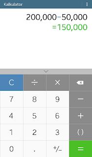 cara menghitung persen di kalkulator casio