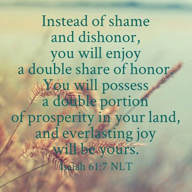 Prayer Pointers: Isaiah 61:7 - Season of Double Honour