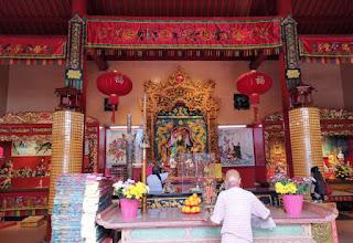 Barrio Chino o China Town de Kuala Lumpur. Guan Di Temple.